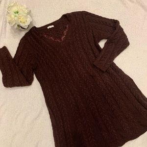 Like New Fitted Sweater Dress